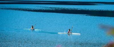 Canoeing on Lake Ledro