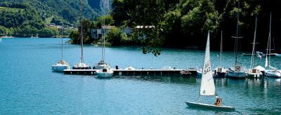 Sailing on Lake Ledro