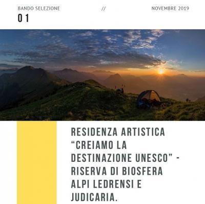 Bando Residenza Creativa - Creiamo la Destinazione Unesco